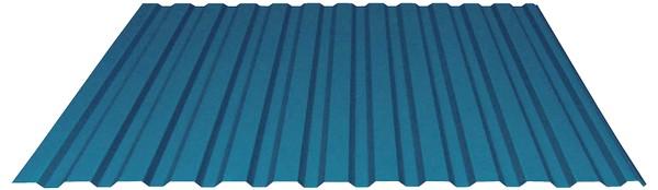 Farebny pozinkovany trapezovy plech s organickym povlakom