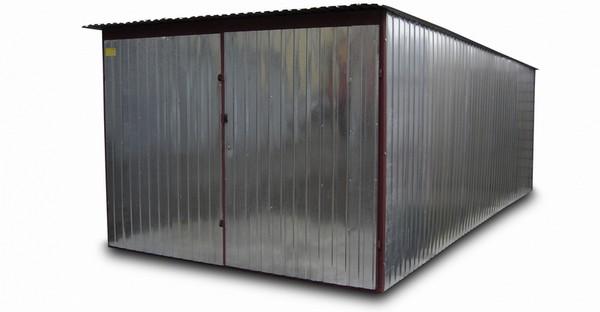 Plechový garáž z trapézového plechu