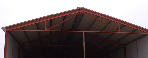 Pozinkovaný trapézový profil strechy a steny hál